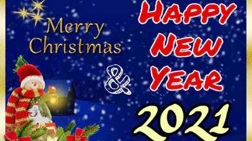Merry Christmas and Happy New Year Images 2021