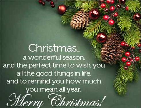 Merry Christmas Wishes Text 2020